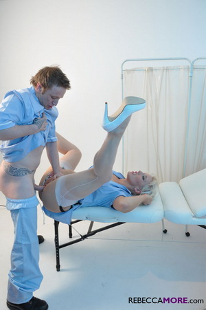 Slutty Nurse More gets nailed hard by her doctor friend